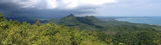 View to the north from Khao Dinsor, Thailand